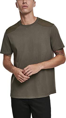 Urban Classics Herren Military Tee T-Shirt, Grün (Olive 00176), Large (Herstellergröße: L)