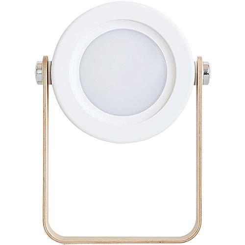 ETH lámpara de Mesa Noche 3D Lámpara De Cabecera Al Aire Libre De La Lámpara De La Lámpara De Escritorio Llevada Recargable Portátil USB Luz De Luz De La Linterna Creativa (Color : White)