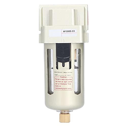 Filtro de aire comprimido Regulador Herramienta de aire Filtro del compresor Humedad de partículas Filtro de trampa de agua Reemplazo del separador Unidad individual(AF3000-03)