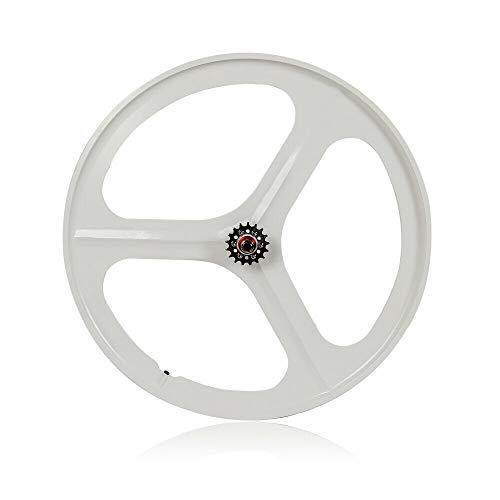KANING 700c Fixed Gear Wheels,3-Spoke Rim Set of Front & Rear Fixie Bike/Single Speed USA Stock (Rear Wheel White)