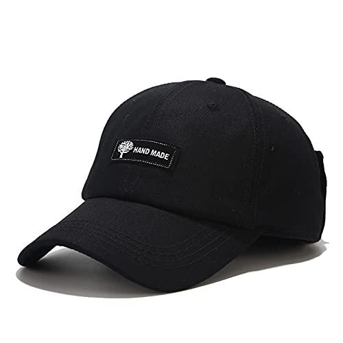 KGMO Nuevo Sombrero De Gafas De Aviador para Mujer, Gorra De Béisbol Retro De Algodón De Calle, Gorra De Moda para Hombre, Gorra Ajustable, Negro