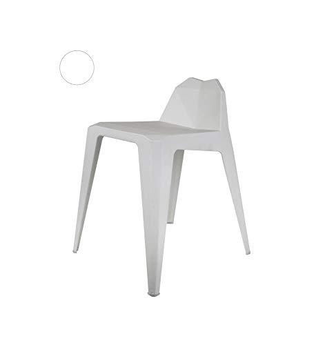 HOME DECO FACTORY HD6307 Tabouret Origami Blanc, Plastique-PP, 42,5 x 47,5 x 61,5 cm