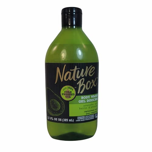 Nature Box Body Wash - for Replenished Skin, with 100% Cold Pressed Avocado Oil, 13 Ounce