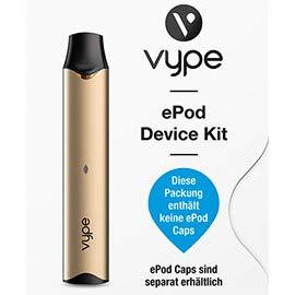 Vype ePod E-Zigaretten Device Kit Gold/ohne Nikotin.