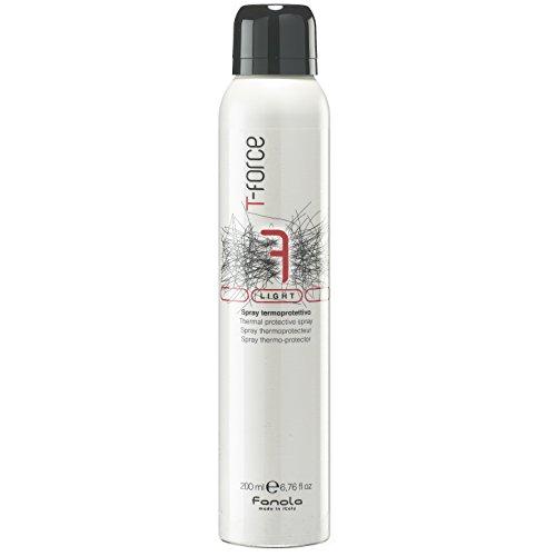 Fanola Spray TERMO PROTECTOR 200 mL T-Force 7 Light - Especial para plancha, secador, calor - Protección cabello pelo - PROFESIONAL