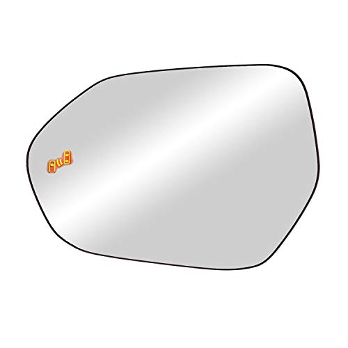 """Driver Side Heated Replacement Glass w/backing plate, Camry Sedan/Hybird, Corolla Hatchback, Corolla Sedan/Hybrid, Prius Hatchback, w/BSDS, 4 15/16"""" x 7 1/16"""" x 7"""""""