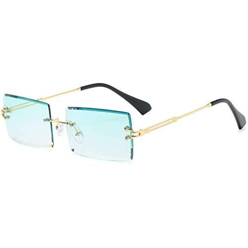ZHANG Gafas De Sol para Mujer Gafas De Sol Rectangulares Sin Montura Populares De Moda Gafas De Aleación para Hombres Y Mujeres Gafas UV400