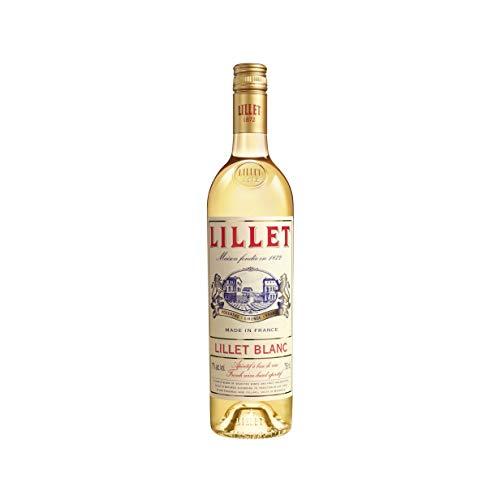 Lillet Blanc Aperitif / Fruchtiger französischer Weinaperitif aus 85% Weinen und 15% Fruchtlikören / 1 x 0,75 L