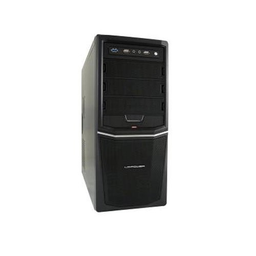 LC-Power Pro -924B Midi-Tower PC-Gehäuse inkl. 420W (3X 5,25 Externe, 4X 3,5 interne, USB 3.0)