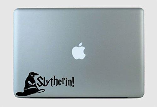 SimplyVinylized Harry Potter Inspired Slytherin! Sorting Hat Vinyl Decal Sticker Black
