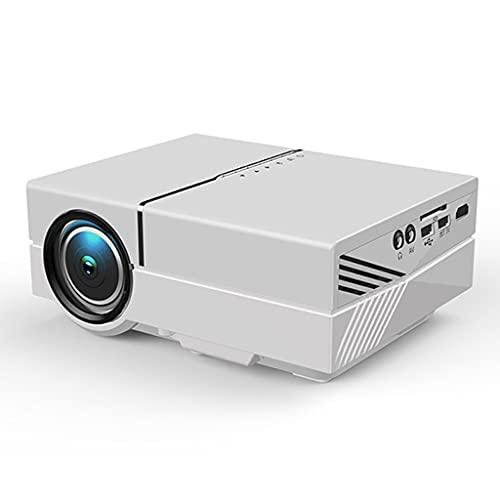 SGZYJ Proyector LED 170 Pulgadas Full HD 1080P Compatible con USB para Reproductor Multimedia de Cine en casa (Color : Silver)