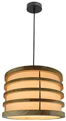 MUZIDP Lámpara de araña de bambú de punto de punto de hecha de mimbre de mimbre Lámpara colgante de ratán E27 Diseño Lámpara de madera Colgante de madera Barra de cocina LED Suspensión Droplight Light