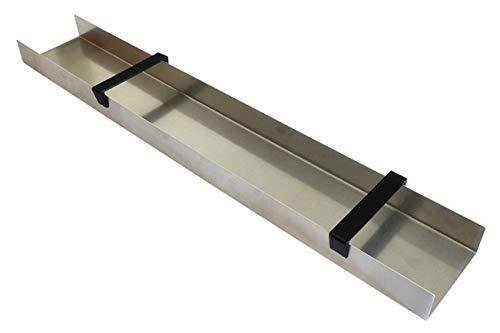 Goldwaschrinne, 100x15cm, mit Griffen, Aluminium U-Profil für Goldwäscher