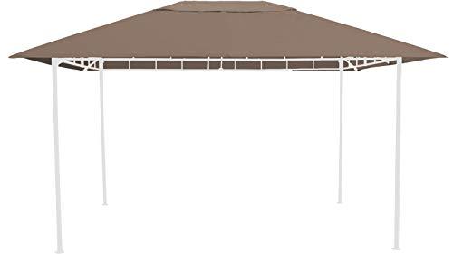 GRASEKAMP Qualität seit 1972 Ersatzdach 3x4m Taupe zu Gartenpavillon Antik Pavillon Partyzelt
