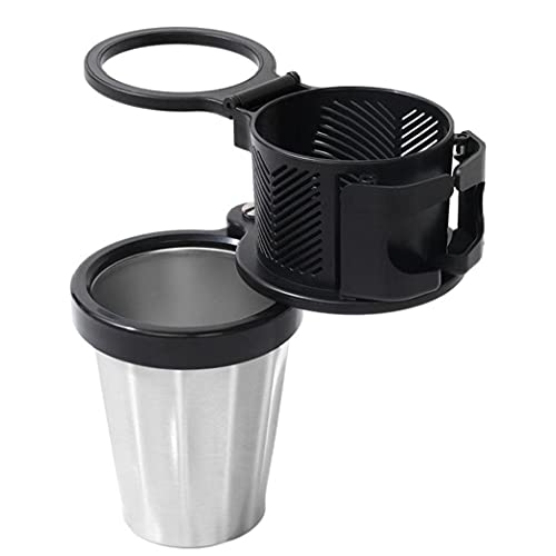 EElabper Titular De La Taza De Automóviles Ajustable 3 En 1 Botella De Bebida Automática Contenedor Gafas De Sol Rack De Almacenamiento