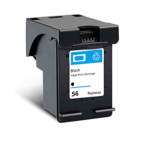 SXCD 56 57 Cartucho De Tinta para HP, Compatible con HP Deskjet 9650 9680 5550 PhotoSmart 7150 7260 Officejet 4255 5652 5608 Impresora PSC 1110, Cartuchos De Alto Rendimi Black 1