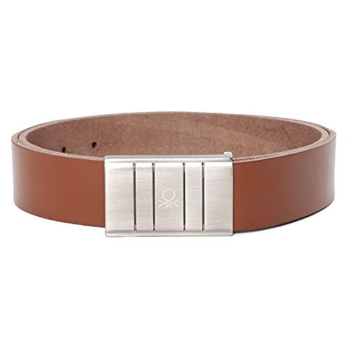 United Colors of Benetton Men's Faux Leather Belt ( Tan ), 32