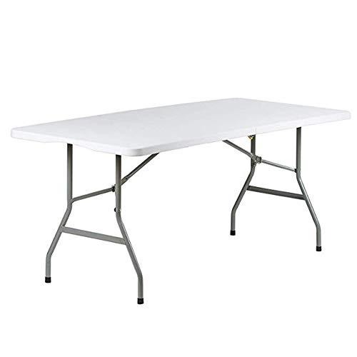 YY&L Table Pliante Portative Multifonctionnelle Multifonctionnelle Crystal Premium - Intérieur/Extérieur - Dîner Pliant pour Table À Tréteaux De Camping De 180 Cm / 6 Pi,152Cm