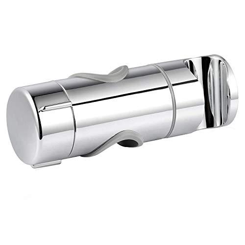 Universal Handbrause Halterung, Joyoldelf verstellbar Brausehalter, 90° Flexibel drehbar Duschhalterung für Slide Bar 19-25 mm Außen Durchmesser, ABS Grade Kunststoff, Verchromt