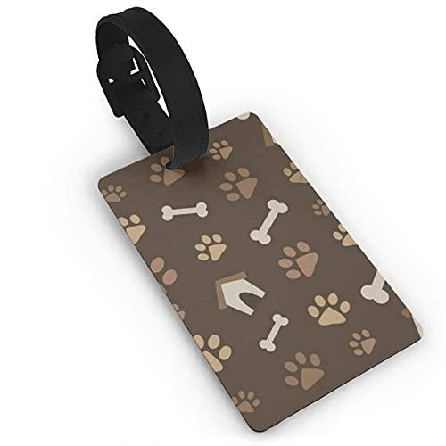 Gepäckanhänger Hunde Traum PVC-Namensschild Reisekoffer-Identifikations-ID-Tags Langlebiges Gepäcketikett