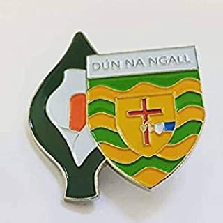 Donegal Easter Lily Enamel Pin Badge - Irish Republican Rebel 1916