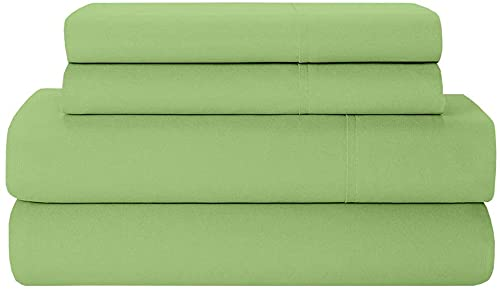 6 Piece Bamboo Sheets 100% Organic Bamboo Sheets - Soft, Breathable & Cooling 100% Viscose from Bamboo Sheets 40 CM Elastic Deep Pocket SUPERKING Size Sage Solid