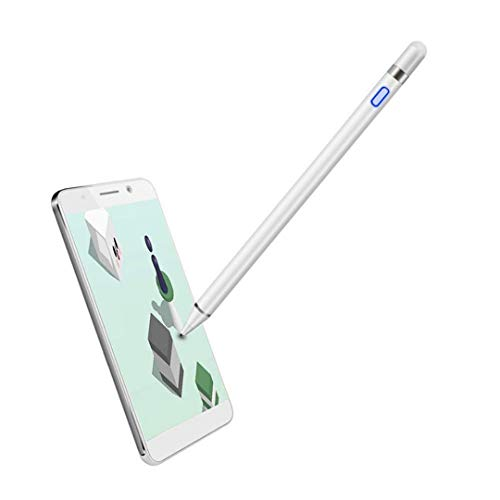Active Stylus Pencil Compatible for Apple,Stylus Pens for Touch Screens, High Sensitivity,Rechargeable Stylus Pen Compatible with iPhone,iPad,Android Tablet and Other Touch Screen (White)