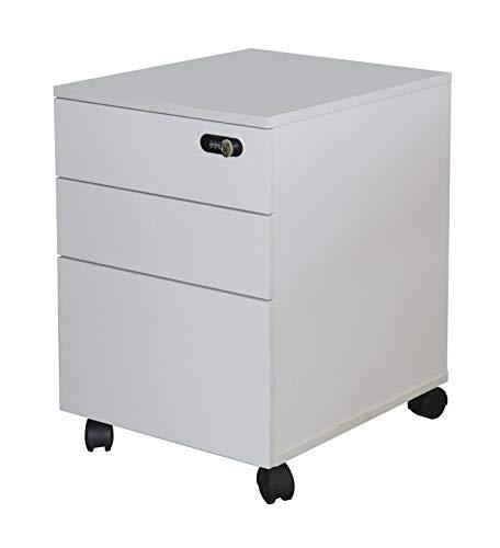 Happy Home Schrank mit Zahlenschloss Büroschrank Aktenschrank Büromöbel Weiß / L48 x B40 x H56 cm
