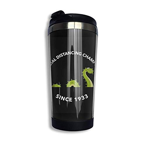 Social Distancing Nessie Since 1933 Personalized Travel Mug Stainless Lined Coffee Tumbler Double Wall Vacuum Insulated Travel Tumbler For Christmas Birthday Home Office