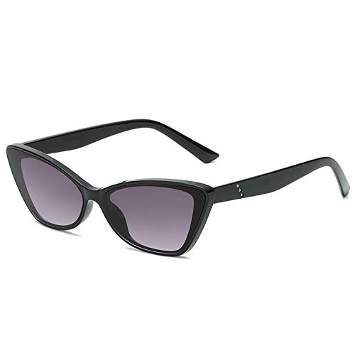 Gafas De Sol De Ojo De Gato Vintage para Mujer, Gafas De Sol De Ojo De Gato Pequeñas Negras Retro Sexis, Gafas De Diseñador De Marca para Mujer, Brightblackgray