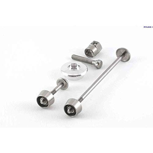 Pitlock Set 01 Front Wheel, Seat Post & Ahead Headset System SperrenSchloss, Silber, Einheitsgröße