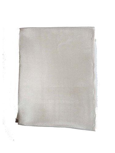 naturwaren-online Seiden-Stoff weiß 140cm breit Ponge 05 ideal für Seidenmalerei, 100% Seide