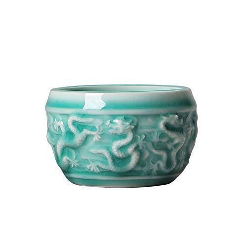 LEBAO Purple Clay Ceramica Te Taza Teteras Teteras Set Copa Relieve Blanca Taza De Porcelana Blanca del Dragón De Jade Kung Fu Taza Taza Taza De Té De Cerámica Individual Copa Personalizada