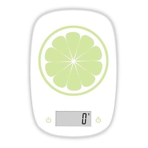 QAQ Electrónica Básculas De Cocina Vidrio Templado Orgánico Todo Incluido 5kg/1g Horneado,A,22.1 * 15.1 * 1.83cm(5kg/1g)