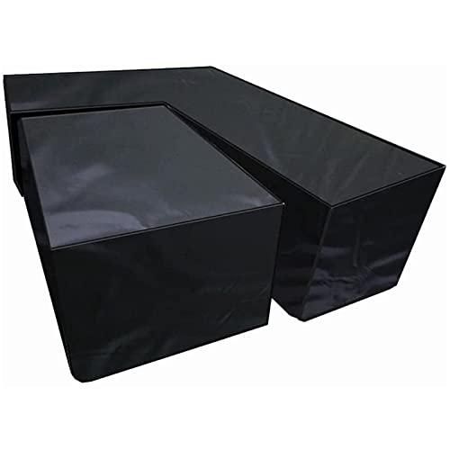 CHLDDHC Outdoor Tischdecke Atmungsaktiv Winddicht Wasserdicht UV-beständig und 210D Heavy Duty Oxford Stoff,Black-L-215 * 215 * 87cm
