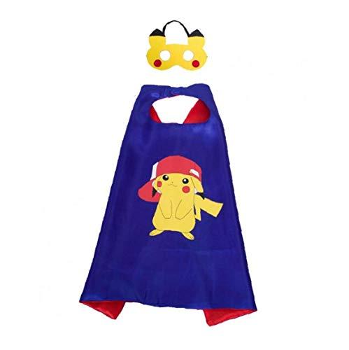 Pikachu Costume Cape Regle.masque Pour Les Enfants Enfants Pokemon Themed Birthday Party Decoration Dress Up Cosplay Cadeaux Favor