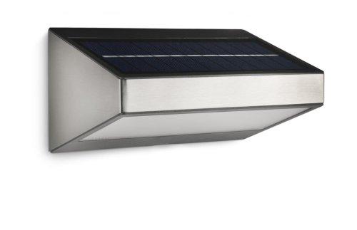 Philips myGarden 178104716 Greenhouse Solar LED Wandleuchte, Edelstahl