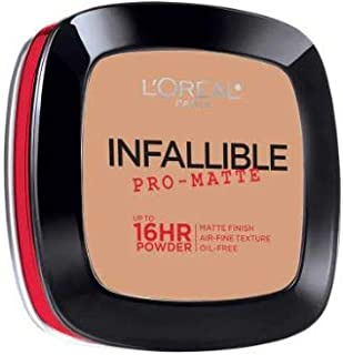 L'OREAL Infallible Pro-Matte Powder True Beige 30g -Our 1st 16H mattifying Powder Foundation Inspired by Japanese Two-Way Cake which Provides high Coverage