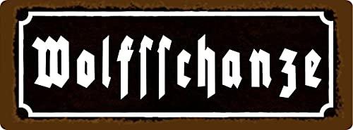 Metall Schild 27x10cm Wehrmacht Waffen Historisch Tin Sign