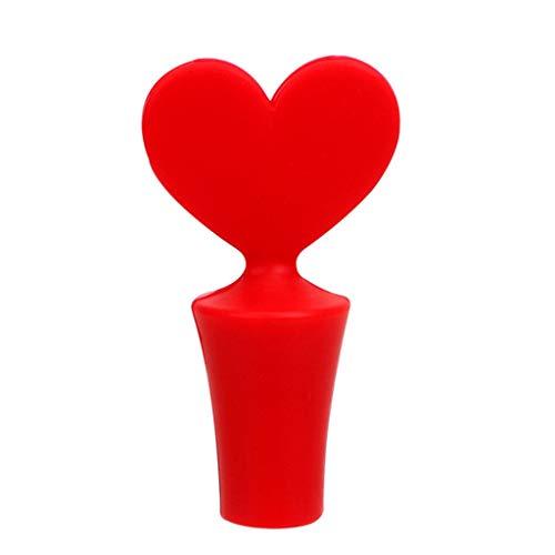 YUTRD ZCJUX Nuevo tapón de Vino Silicone Botella de Vino Tapón Tapón de Corcho Bebida Sellador Plug Bar Sello Poker Forma Cork Barware (Color : A)