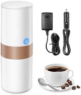 Aicok Cafetera Eléctrica Portátil Compatible con Cápsulas K-CUP, Cafetera de Viaje con Cargador de Pared y Cargador de Coche, Adecuado para Camping, Viajes, Oficina y Hogar