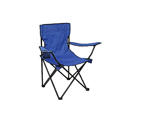 Fine Garden Folding Camping Chair, Lightweight Portable Foldable Camping Chair for Fishing Beach With Cup Holder, Perfect for Caravan trips, BBQs, Garden, Travelling, Included Travel Carry Bag