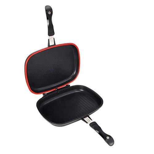 logozoee Antihaft-Doppelpfanne, Antihaft-Pfannenset Pfannkuchenpfanne Bratpfannenset, für Home Restaurant Kitchen BBQ
