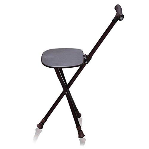 Crutch Walker stoel met vier voeten, verlicht rieten stoel, antislip gevouwen ouderen wandelstok
