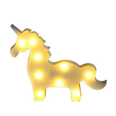 Unicorn Party Supplies, Fantasy Themed Décor Marquee Light Desk Table Lamp Mystical Enchanted Gift for Child Kids Baby Girls Bedroom Birthday
