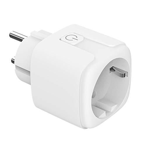 Woox Mini wifi-stekker smart socket wifi-plug-timerfunctie Alexa Google Assistant IFTTT compatibel, geen hub nodig, CE- RoHS-gecertificeerd