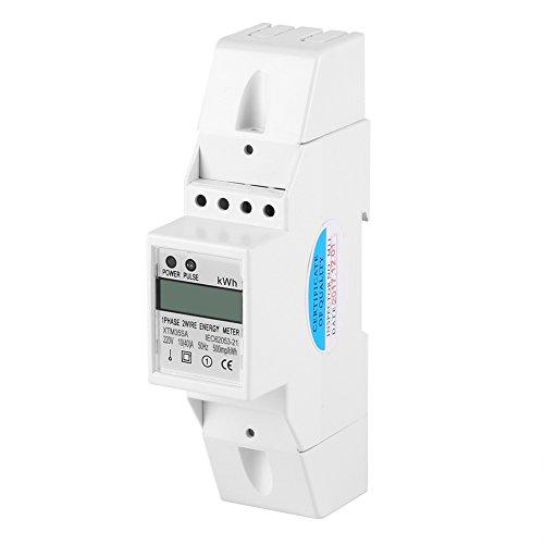Hilitand Hutschiene Stromzähler Digital LCD einphasig DIN-Schiene Stromzähler 10-40A Elektronische KWh Meter