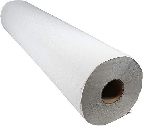 Papel Camilla Masaje Profesional Industrial Rollo Eco Pre Cortado (cada 52cm) - Reciclado Pack 6 unidades 2070gr/uni - Rollos 1 Capa 70 metros Ecologico Natural XXL - S20303