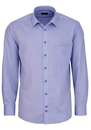 Hatico Regular Fit Hemd Langarm New Kent Kragen Chambray hellblau Größe 44