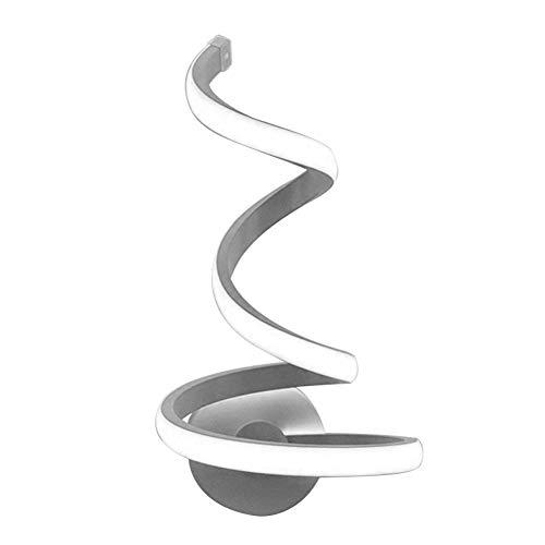 Lámpara de Pared Habitación Dormitorio Lámpara de Pared Decoración Artes LED Spiral Luz Moderno Creativo Monte en la Pared Lámpara Lámpara Metal Aplique Lámpara LED (Body Color : White Light)